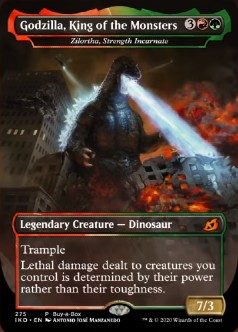 mtg card foil godzilla king monsters kaiju ikoria