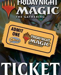 mtg fnm ticket in store play magic the gathering friday night card cards